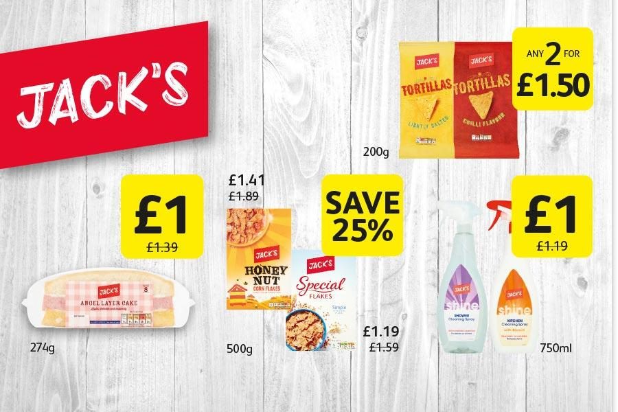 Jack's Range offers at Londis