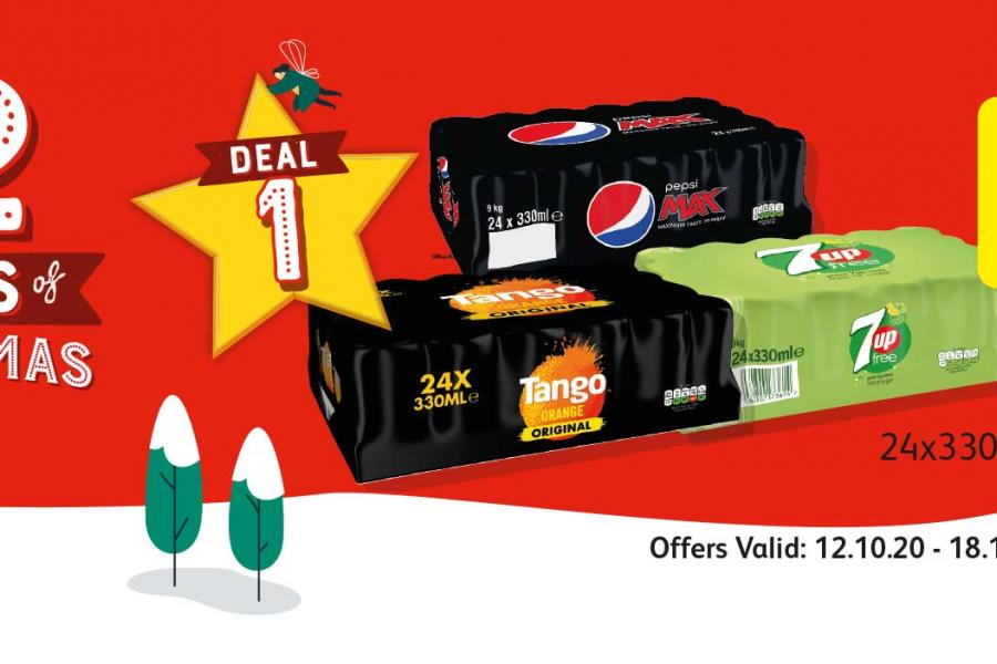 12 Deals of Christmas (Deal 1) Offer Valid: 12.10.20 - 18.10.20 at Londis