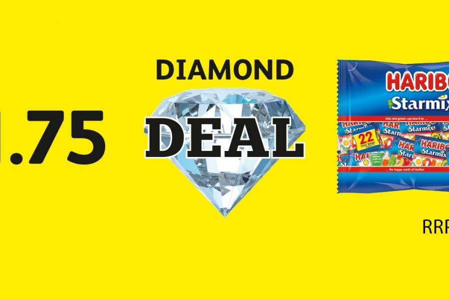 DIAMOND DEAL: Haribo Starmix 22 pack - £1.75 at Londis