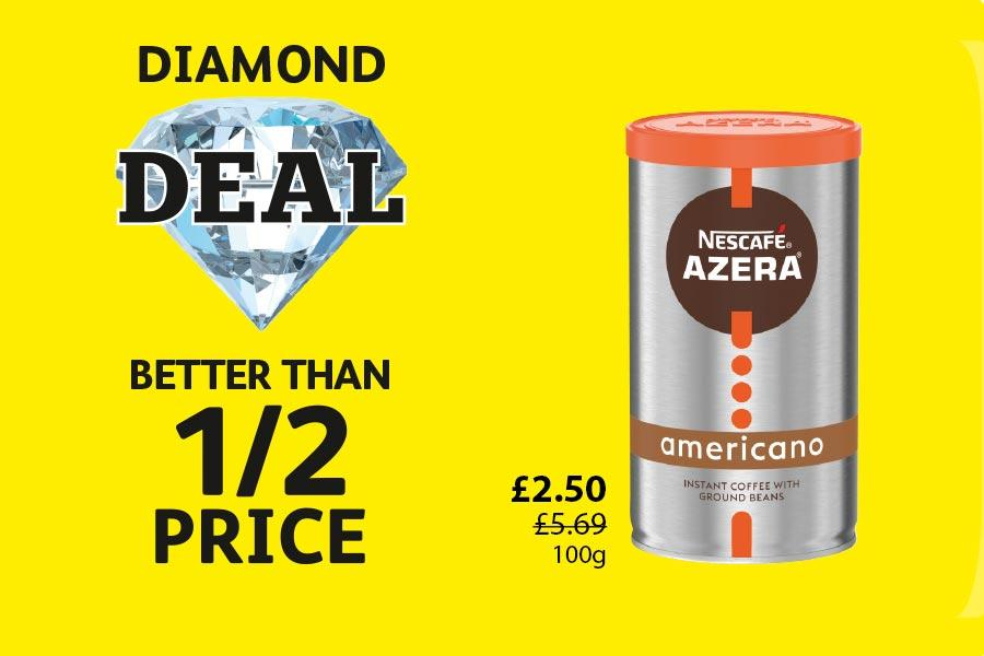 DIAMOND DEAL: Nescafe Azera Americano - £2.50 - Better than half price at Londis