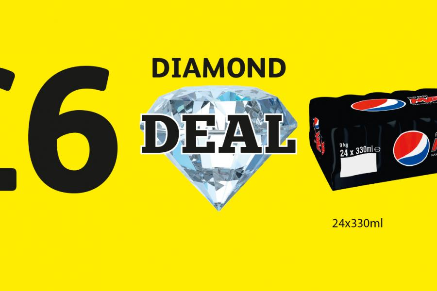 DIAMOND DEAL: Pepsi Max 24 Pack - Only £6 at Londis