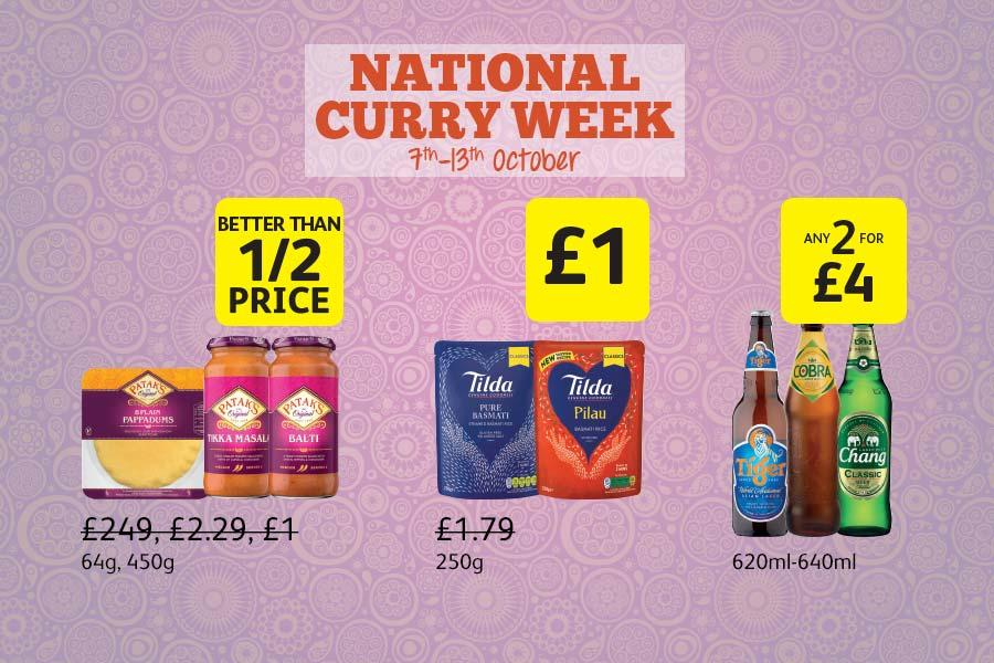 National Curry Week - 7th - 13th October at Londis