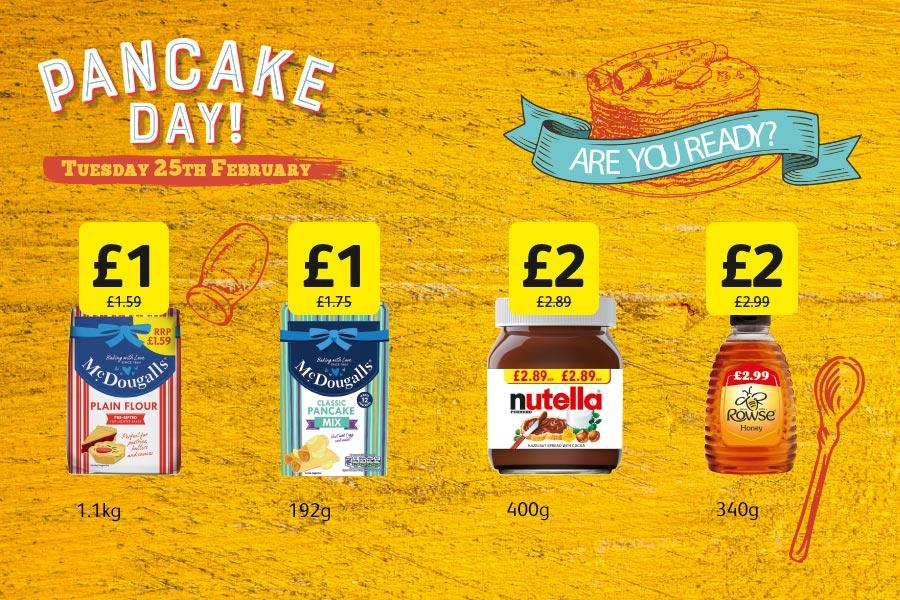 Pancake Day - Thursday 25th February