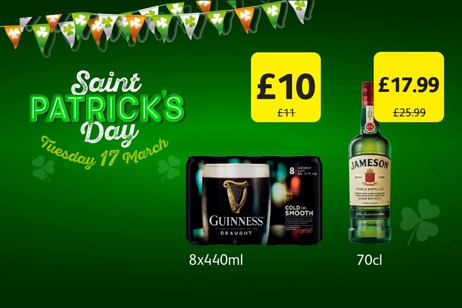 Saint Patrick's Day offers at Londis