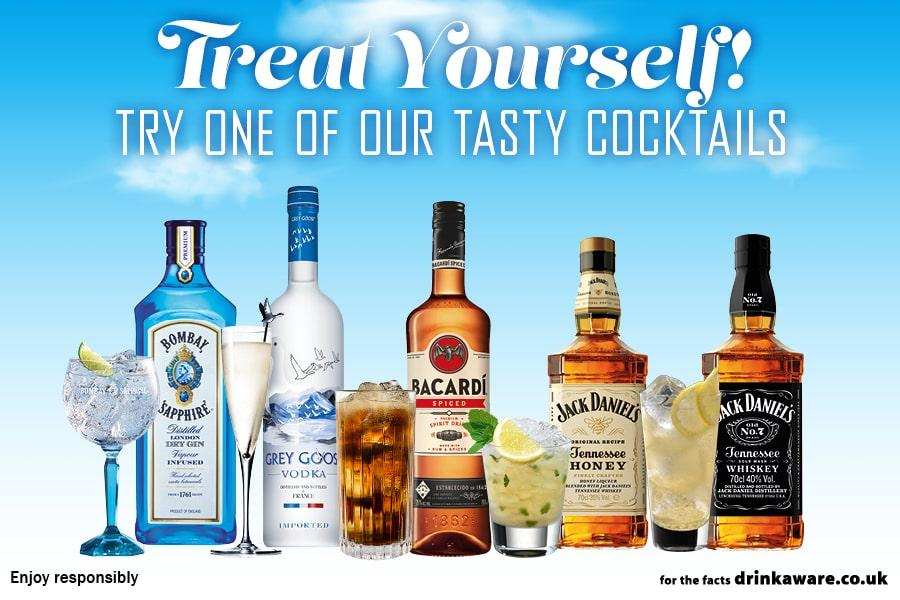 TREAT YOURSELF: Try One Of Our Tasty Cocktails