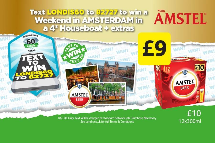 Text LONDIS60 to 82727 to win a Weekend in Amsterdam in a 4* Houseboat + extras