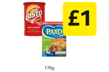 Bisto Gravy Granules, Paxo Stuffing Mix Sage & Onion - £1 at Londis