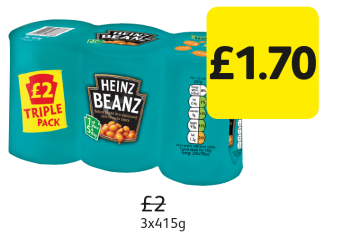Heinz Baked Beanz,  Was £2 - Now Only £1.70 at Londis