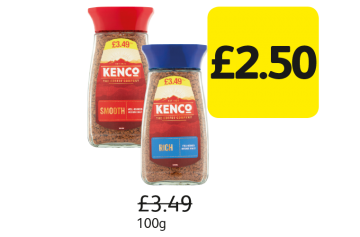 Kenco Rich Roast, Smooth Roast, Was £3.49 - Now Only £2.50 at Londis