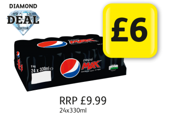 DIAMOND DEAL: Pepsi Max 24 Pack, RRP £9.99 - Now only £6 at Londis