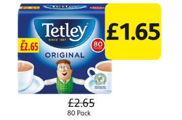 Tetley Tea Bags, Was £2.65 - Now £1.65 at Londis
