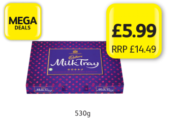 MEGA DEALS: Cadbury Milk Tray, RRP £14.49 - Now only £5.99 at Londis