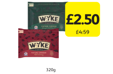 Wyke Farms Cheddar Mature, Vintage, Was £4.59 - Now only £2.50 at Londis
