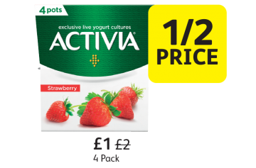 Activia Yogurt, Was £2, Now only £1 - 1/2 Price at Londis
