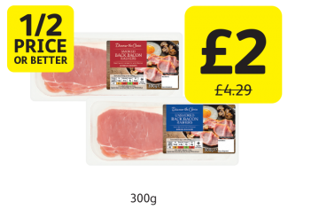 1/2 PRICE OR BETTER: Discover The Choice Back Bacon Smoked, Unsmoked, Was £4.29 - Now only £2 at Londis