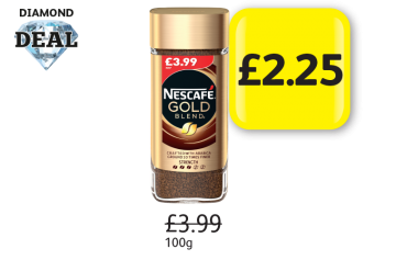 DIAMOND DEAL: Nescafe Gold Blend, Was £3.99 - Now only £2.25 at Londis