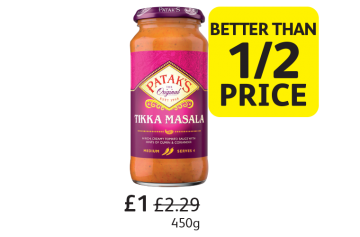 Pataks Curry Sauce, Was £2.29, Now only £1 - Better Than 1/2 Price at Londis