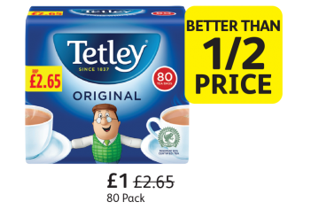Tetley Tea Bags, Was £2.65, Now only £1 - Better Than 1/2 Price at Londis