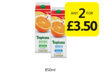 Tropicana - Any 2 for £3.50 at Londis