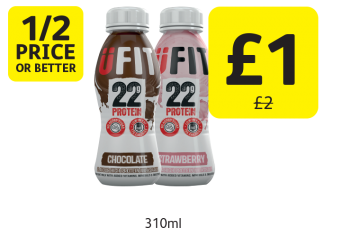 1/2 PRICE OR BETTER: Ufit Protein Drink, Was £2 - Now only £1 at Londis