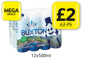 MEGA DEALS: Buxton Water, was £2.75 - Now only £2 at Londis