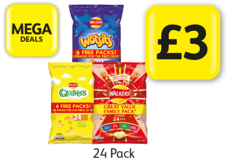 MEGA DEALS: Walkers Wotsits, Quavers, Variety Classic  - Only £3 at Londis