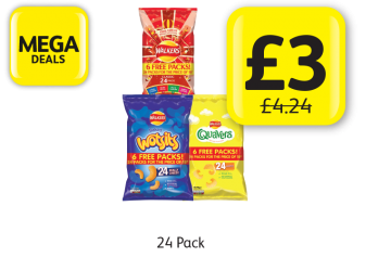 MEGA DEALS: Walkers Variety, Wotsits, Quavers, Was £4.24 - Now only £3 at Londis