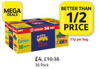 MEGA DEALS: Walkers Quavers, Wotsits, Monster Munch, Was £10.38, Now £4 - Better than 1/2 Price at Londis
