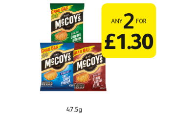 McCoys Ridge Cut - Any 2 for £1.30 at Londis