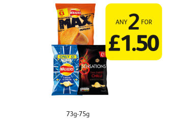 Walkers Crisps - Any 2 for £1.50 at Londis
