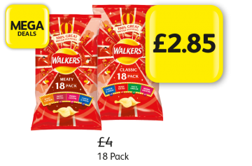 MEGA DEALS: Walkers Variety Meaty, Classic, Was £4 - Now £2.85 at Londis