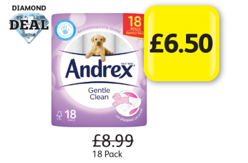 DIAMOND DEAL: Andrex Gentle Clean, Was £8.99 - Now only £6.50 at Londis