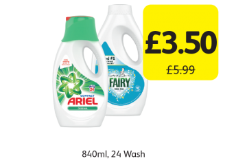 Ariel, Fairy Non Bio, Was £5.99 - Now only £3.50 at Londis