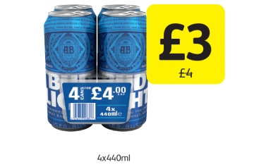 Bud Light, Was £4 - Now only £3 at Londis