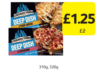Chicago Town Deep Dish Pizza, Was £2 - Now only £1.25 at Londis