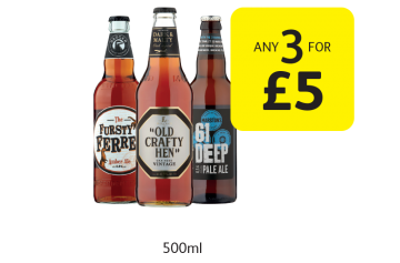 Fursty Ferret, Old Crafty Hen, 61 Deep Pale Ale  - Any 3 for £5 at Londis