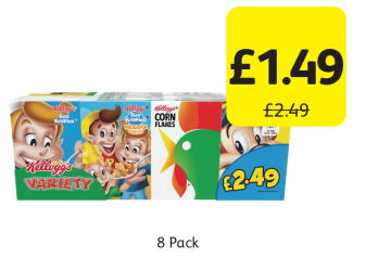 Kellogg's Variety Pack, Was £2.49 - Now only £1.49 at Londis