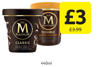 Magnum Ice Cream, Was £3.99, Now only £3 at Londis