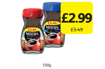 Nescafe Original, Decaffeinated, Was £3.49 - Now only £2.99 at Londis
