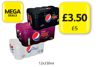 MEGA DEAL: Pepsi Max Original, Cherry, Diet Pepsi,  Was £5 - Was only £3.50 at Londis