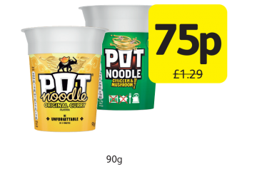 Pot Noodle, Was £1.29 - Now 75p at Londis