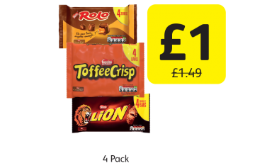Rolo, Toffee Crisp, Lion Bar, Was £1.49 - Now only £1 at Londis