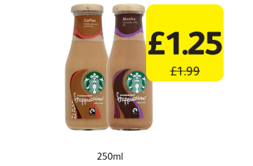 Starbucks Frappuccino Original, Mocha, Was £1.99 - Now only £1.25 at Londis
