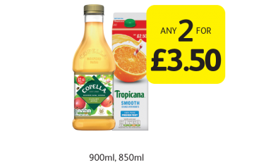Tropicana, Copella  - Any 2 for £3.50 at Londis
