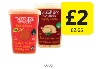 Yorkshire Provender Soup, Was £2.65 - Now only £2 at Londis