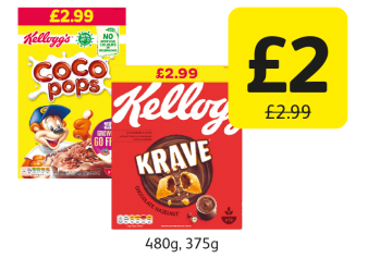 Kellogg's Krave, Coco Pops Original, was £2.99 - Now only £2 at Londis