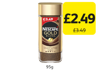 Nescafe Gold Blend Original, was £3.49 - Now only £2.49 at Londis