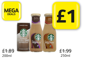 MEGA DEALS: Starbucks Doubleshot, Frappuccino - Was £1.89, £1.99 - Now only £1 at Londis