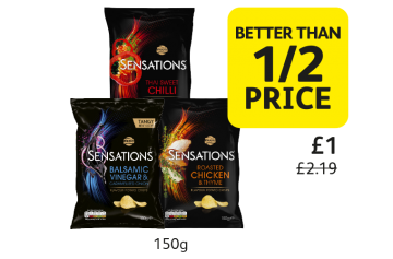 Walkers Sensations, was £2.19, Now only £1 - Better Than 1/2 Price at Londis