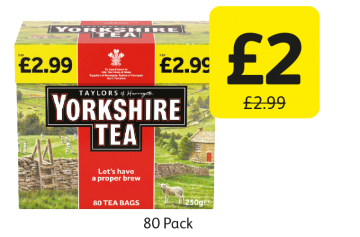 Taylors of Harrogate Yorkshire Tea Bags, was £2.99 - Now only £2 at Londis